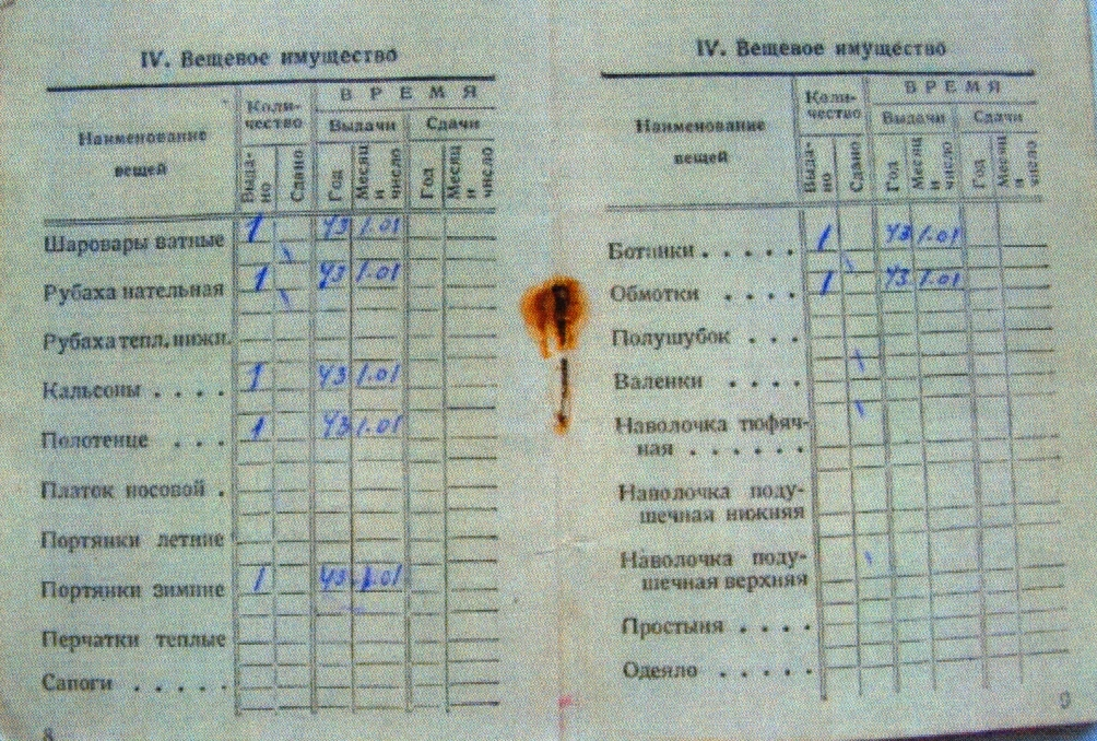 Красноармейская книжка_ветеран_Шапошников А.Н.-30001